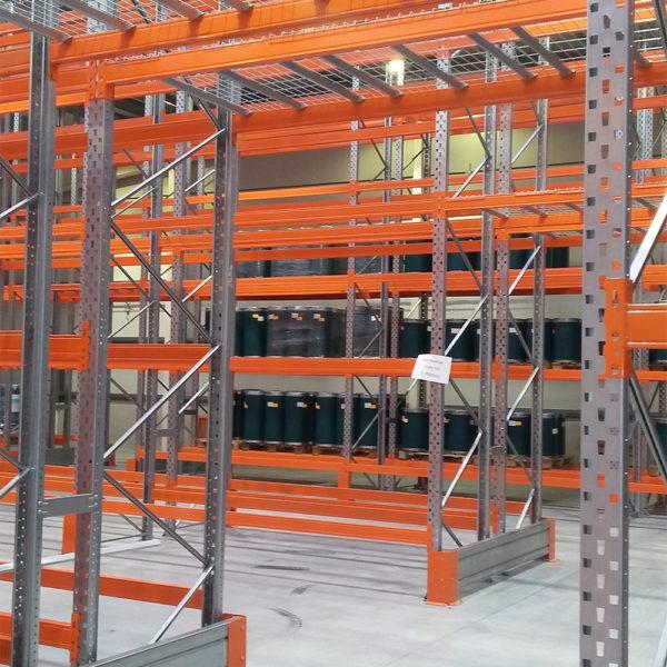 rayonnage industriel à palettes AED Belgique