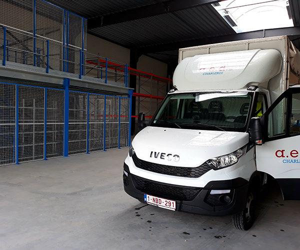 aménagement stockage entrepôts Namur