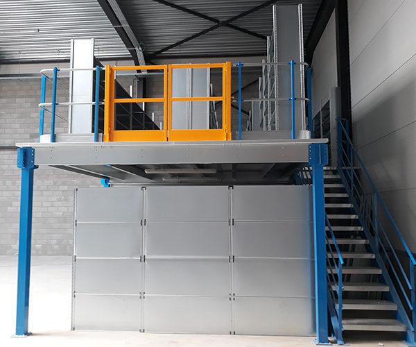 stockage industriel en hauteur AED
